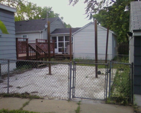 the before of back yard