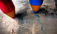 Scribble (Mel Sinclair) Tags: blue red pencil nikon brisbane hdr d700