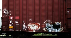 Pars - Gus (mightyquinninwky) Tags: railroad red white graffiti streak character tag graf railway tags tagged railcar boxcar graff graphiti gus pars freight tr trainart rollingstock paintedtrain fr8 spraypaintart moniker freightcar movingart taggedtrain railroadart boxcarart freightart taggedboxcar paintedboxcar paintedrailcar taggedrailcar 11223344556677 carfireonflickr charactersformyspacestation
