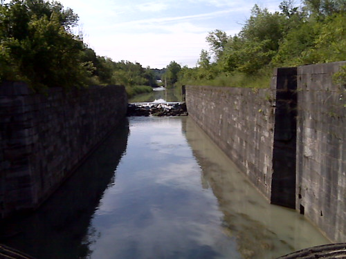 An early version of the Welland canal. Caching in a cave and tunnel shortly.