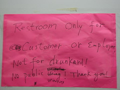 what about drunkard employees? (andyrayy) Tags: public sign drunkard urinating