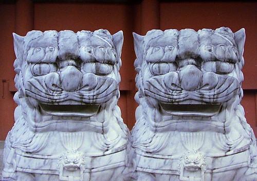 Asakusa Komainu 浅草寺の狛犬(parallel 3D)