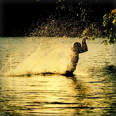 enjoy, moment, bliss, alive, gratitude, grateful, love, connect, connected (Maureen F.) Tags: life summer lake texture water girl golden glow going swing spray almostsunset splash muskoka tomorrow squared soon reedit texturemine