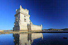 Torre de Belm, Lisbon, Portugal (Ljupco Smokovski) Tags: ocean voyage old travel blue sea reflection building tower castle art heritage tourism portugal monument water stone architecture coast ancient memorial europe cityscape fort antique lisbon traditional famous gothic style landmark medieval historic belem capitol shore gateway coastline aged fortress defense cultural attraction belim