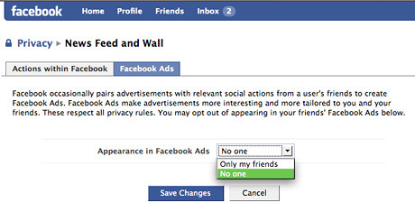 facebook hide ads privacy
