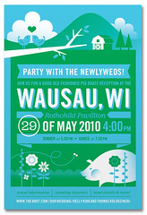 Wausau Invite (Katie Kirk) Tags: wedding wisconsin illustration mexico design invite vector kirk islamujeres rsvp wausau weddinginvite eighthourday katiekirk kellykirk tjkolodzinski