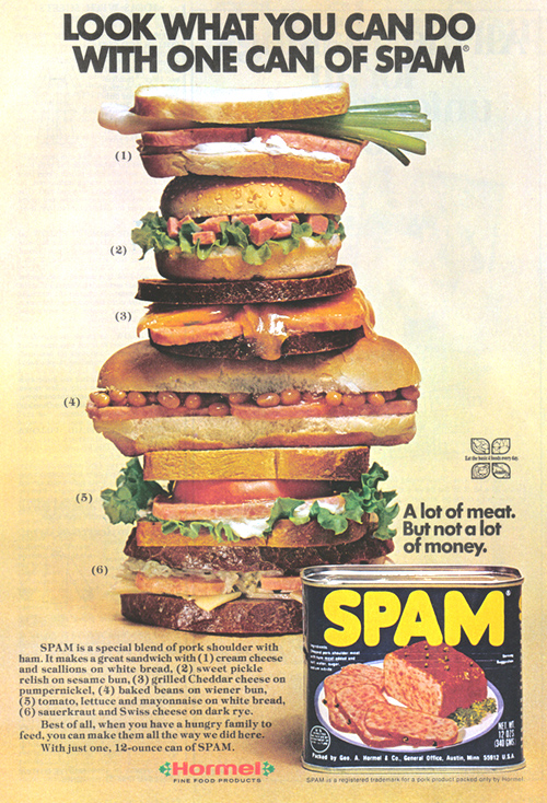 Vintage Ad #906: Look What You Can Do With One Can of Spam