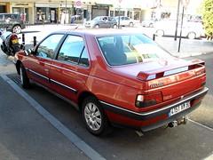 Peugeot 405 rouge (gueguette80 ... non voyant pour une dure indte) Tags: red cars rouge 405 autos peugeot redcars franaises
