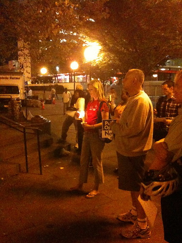 Candlelight vigil for public health care reform