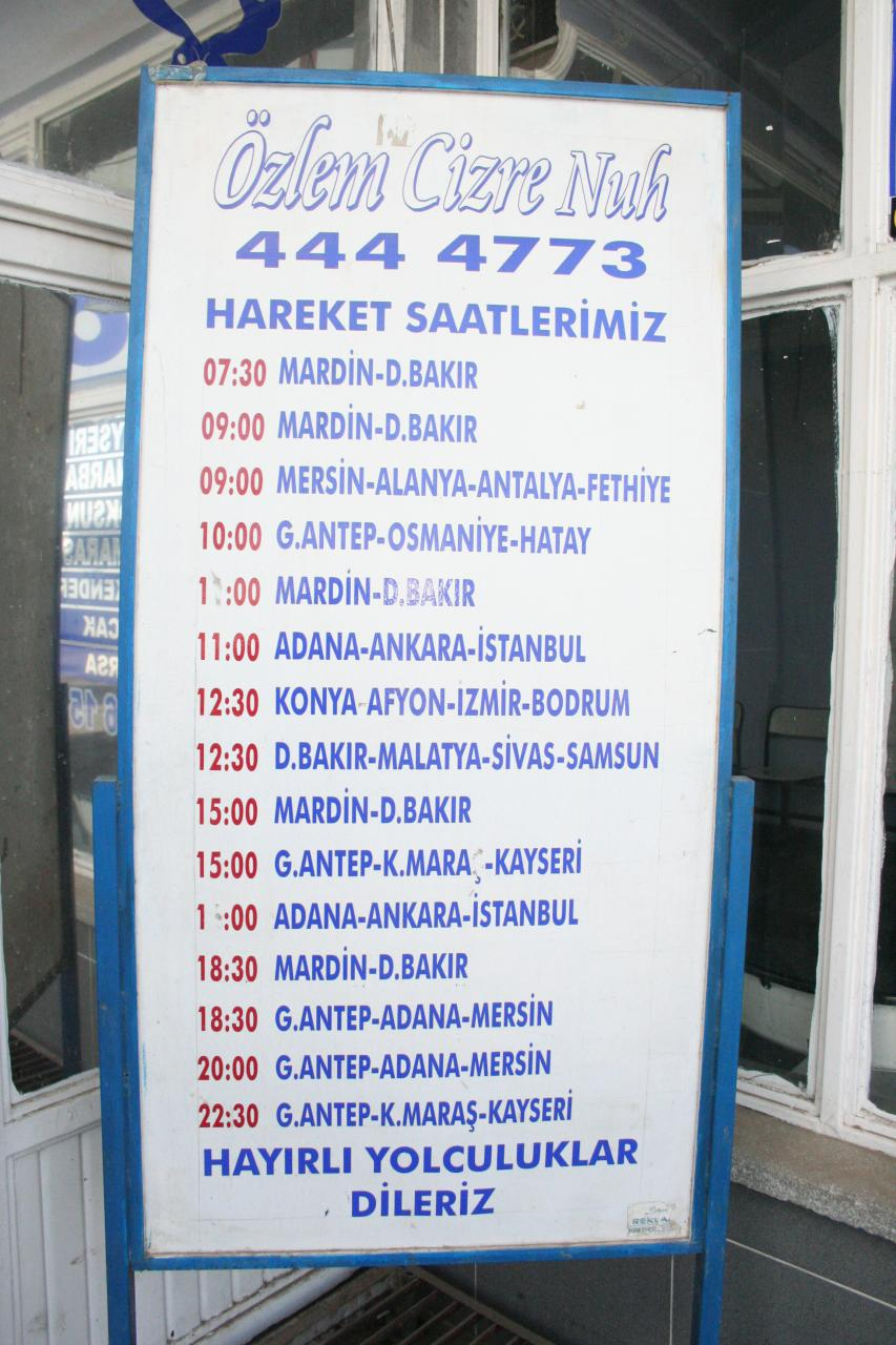 Autocarro Iraque ate Turquia