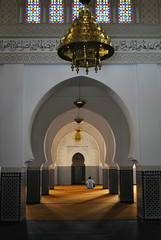 Mosque (Pouthomb) Tags: alone praying arches mosque symmetry morocco maroc figure seated mosque