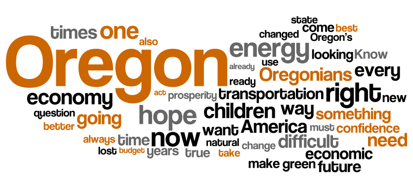 Oregon 2009 State of the State Address word cloud