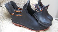 Pixie Puddlers  BIG & small (meadowlarkee) Tags: wellingtonboots rubberboots renew reuse upscaling