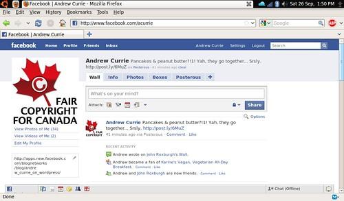 Facebook on Firefox