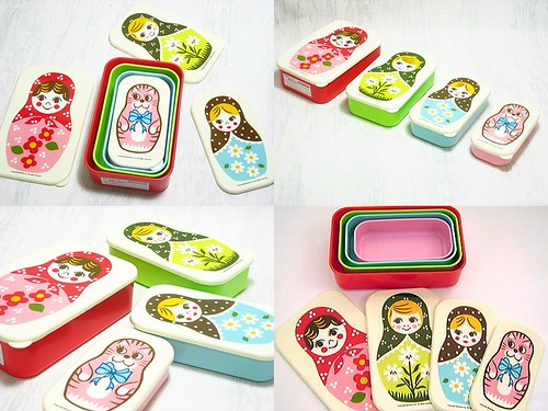 Japanese Bento Boxes - Cute Japanese Bento Box - Matryoshka - Russian Doll
