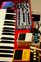 Nord Lead + Effect Pedals (pastjean) Tags: bureau synth