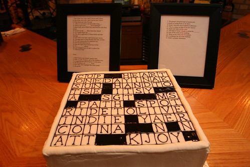 Crossword Cake