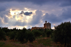 Old church (Theophilos) Tags: sky clouds greece crete olives oldchurch olivegrove rethymno
