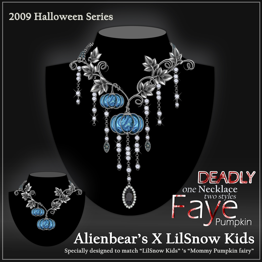 Faye deadly Pumpkin necklace