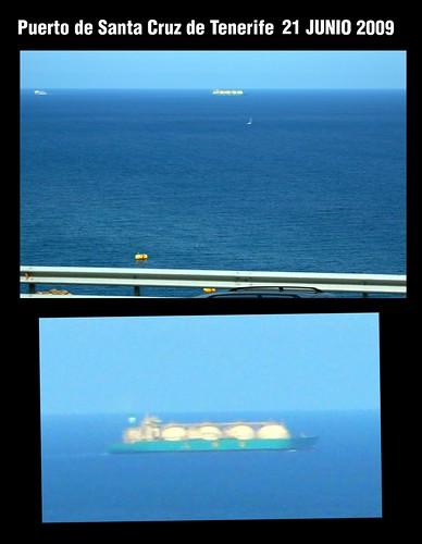 Barco gasero en el puerto de Santa Cruz de Tenerife