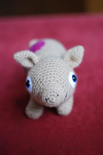 Piglet's blue eyes