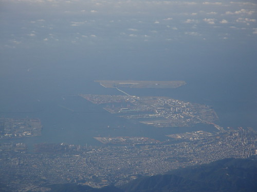 Kobe city from the air