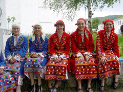 Young Muslim women (Pomaks) in traditional dress (ali eminov) Tags: girls youngwomen costumes folkcostumes muslims pomaks easterneurope people women bulgaria
