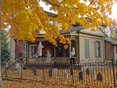 Happy Halloween (Larry the Biker) Tags: house halloween cemetery graveyard scary michigan victorian haunted romeo ghosts happyhalloween