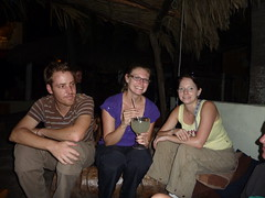 Dinner at Johnny´s place - Al, Maree & me.
