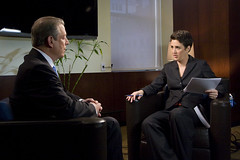 Al Gore with Rachel Maddow (The Rachel Maddow Show) Tags: algore msnbc rachelmaddow therachelmaddowshow