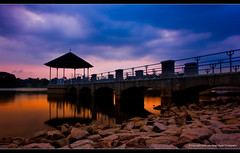 "Sunset series (Lower Pierce)-Photo 1 (LemzKi c,"")) Tags: longexposure bridge sunset orange 35mm nikon singapore 1855mm d40 lowerpiercereservoir lowerpierce singaporeimages nikond40 lemz"