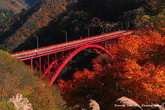 Red Bridge ( Explored ) (searcher101 ( charging up )) Tags: bridge red japan saitama yamanashi nishizawa keikoku