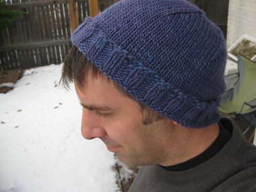 Violet Malabrigo hat