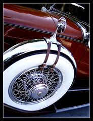 Packard 1207-740 Roadster Spare (C.A.J.) Tags: white reflection classic wheel photoshop wheels tire chrome hood spare radiator whitewall packard roadster automoble classicauto wirewheel autoglamma