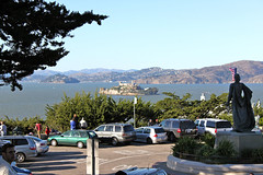 Alcatraz, from Coit Tower