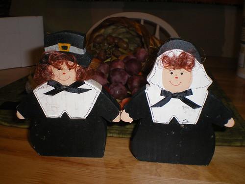 wooden pilgrims