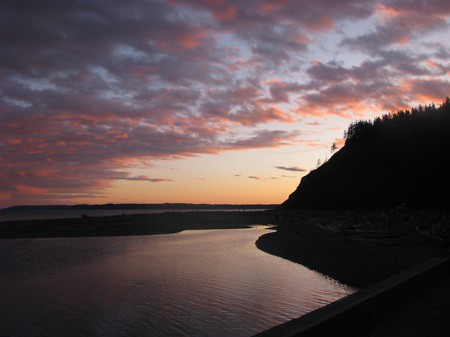 Double Bluff Sunset on Whidbey Island's Useless Bay