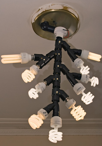 Ten-bulb CFL monstrosity