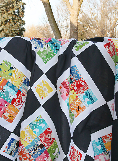 Winter Rainbow Quilt Top