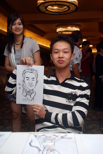Caricature live sketching for Hock Cheong Printing Pte Ltd D&D 2009 - 2