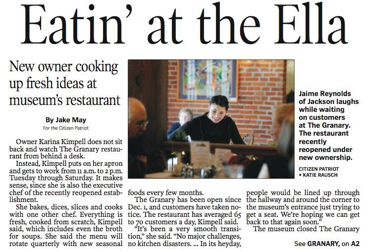Granary Restaurant story