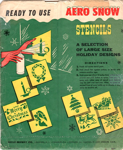 Aero Snow Christmas Stencils - back