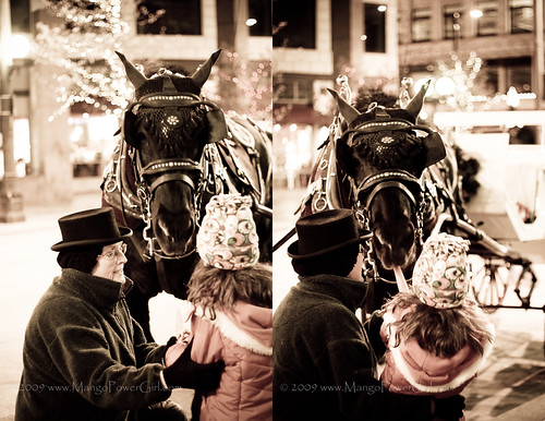 horse carriage & kid