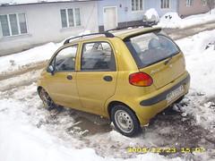 Daewoo Matiz cu lanturi de zapada