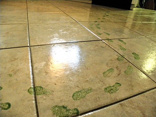 Footprints on the Kitchen Floor