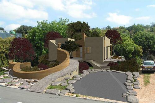: בית פרטי בן 100 מר על מגרש של 500 מר, ביישוב קהילתי בגליל. תכנון הבית התמקד ברצון להימנע ככל האפשר מהפרעה לנוף הטבעי הקיים ומפגיעה בקרקע