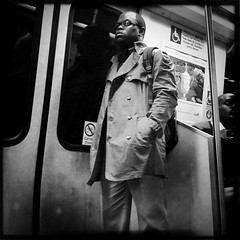 Metro - Red - 4.18.11 (rpmaxwell) Tags: portrait people urban bw usa public subway dc washington publictransportation metro candid lofi portraiture dcist persons unposed subways wmata iphone iphoneography iphoneographie hipstamatic