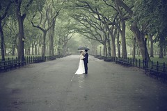 Martin Reisch Distance Image #7 (safesolvent) Tags: park nyc newyorkcity wedding white newyork green classic rain umbrella photography centralpark weddingphotography rainypark