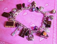 charm bracelet (xtine.bijoux) Tags: miniature beads sweet jewelry bijoux polymerclay fimo icecream bracelet chocolat charmbracelet kato kawai premo ptepolymre