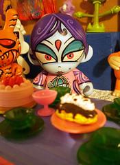 Beautiful Suraci (kittenfreaky) Tags: party food art toy tea vinyl kidrobot custom teaparty dunny munny arkski virulento